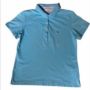Tommy Hilfiger Women's Blue Polo Shirt, sz Large
